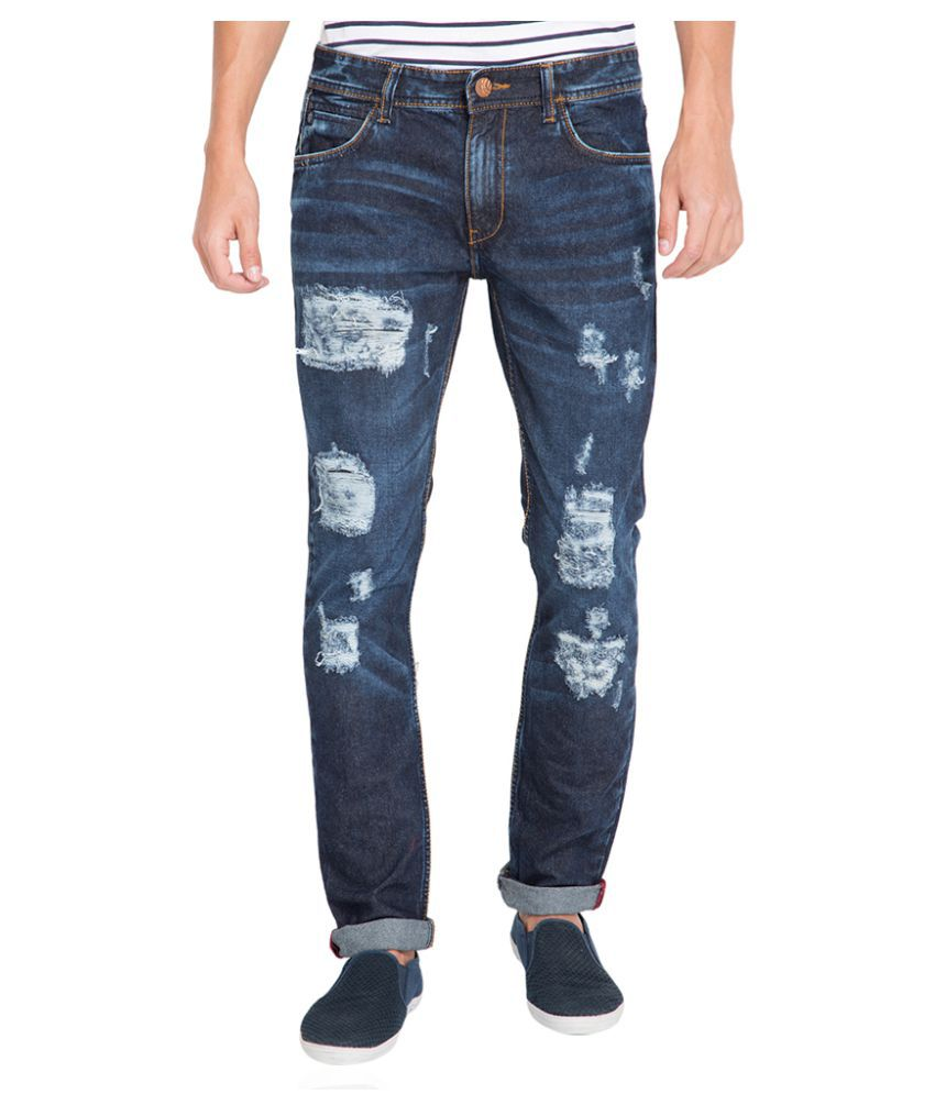 Locomotive Blue Straight Jeans