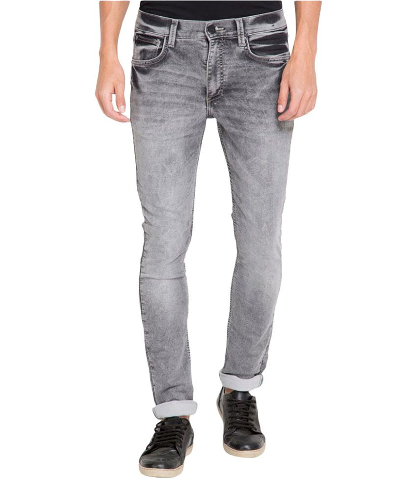 Locomotive Grey Slim Jeans