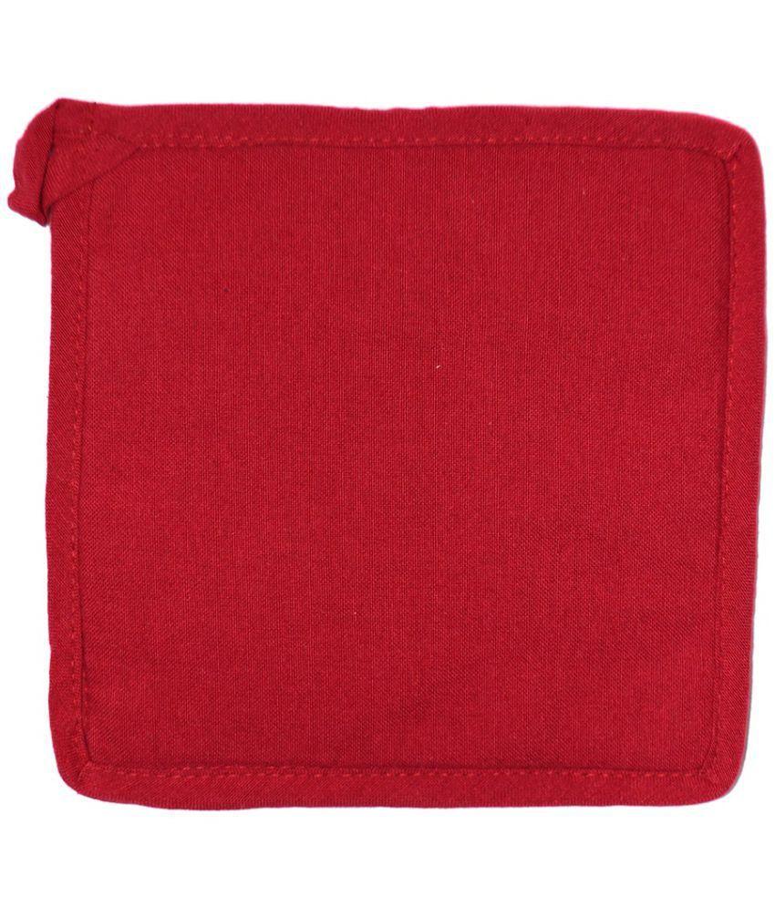 Red  Color Square 100% Cotton 1 Pot Holder