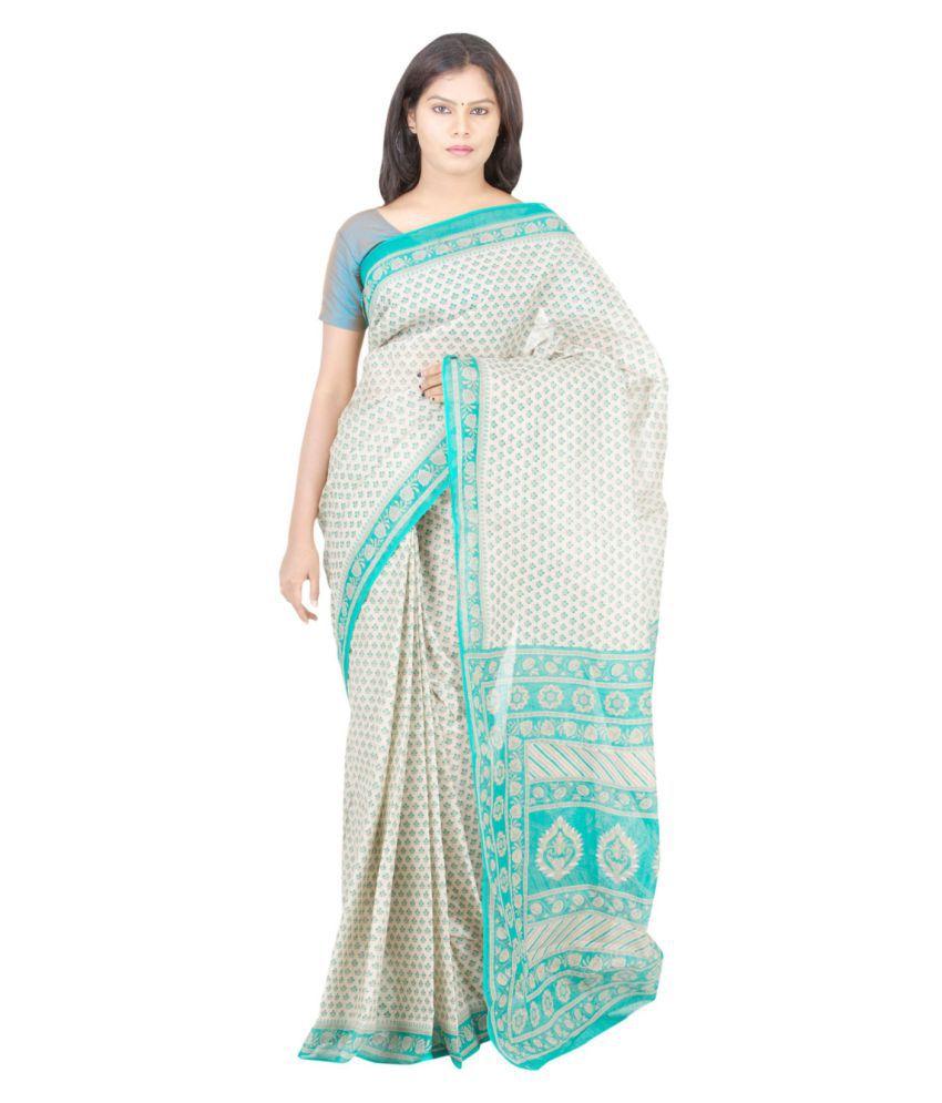 The Chennai Silks Off White Cotton Saree Snapdeal price ...