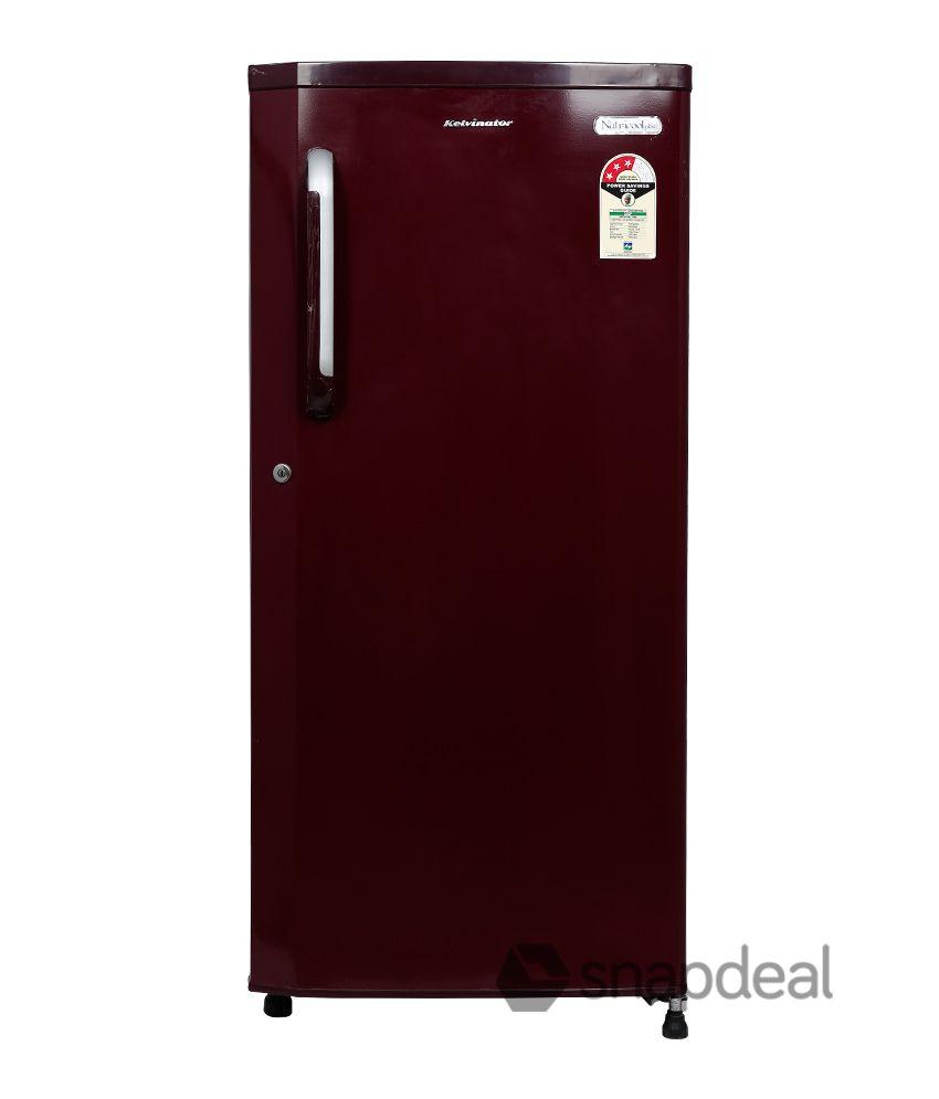 Kelvinator 190 Ltr 1 Star KS201EBR/KW201EBR/KW201EMH Single Door Refrigerator - Maroon