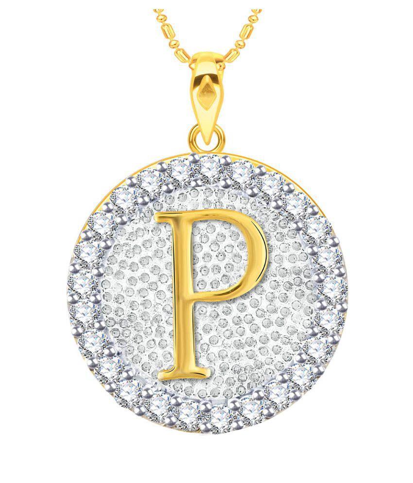 VK Jewels Alphabet Initial Letter