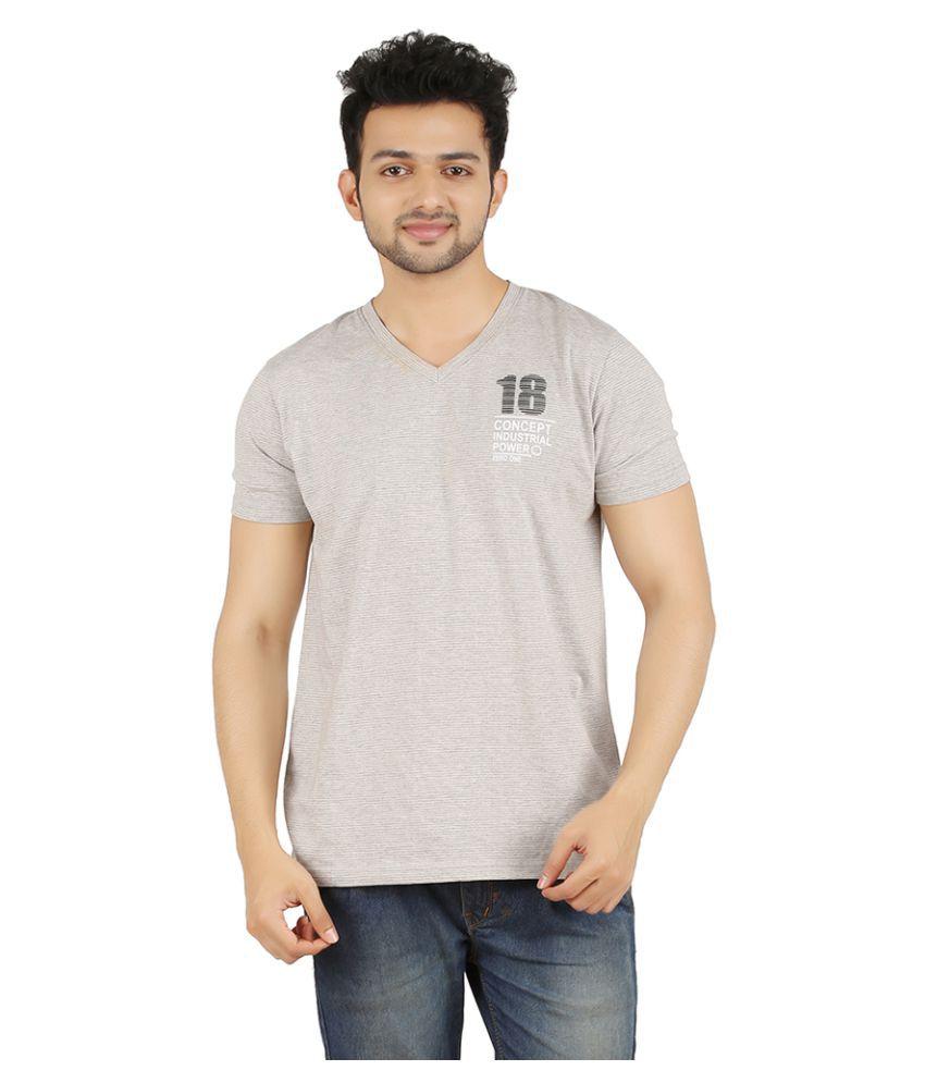 Zero One Grey V-Neck T-Shirt