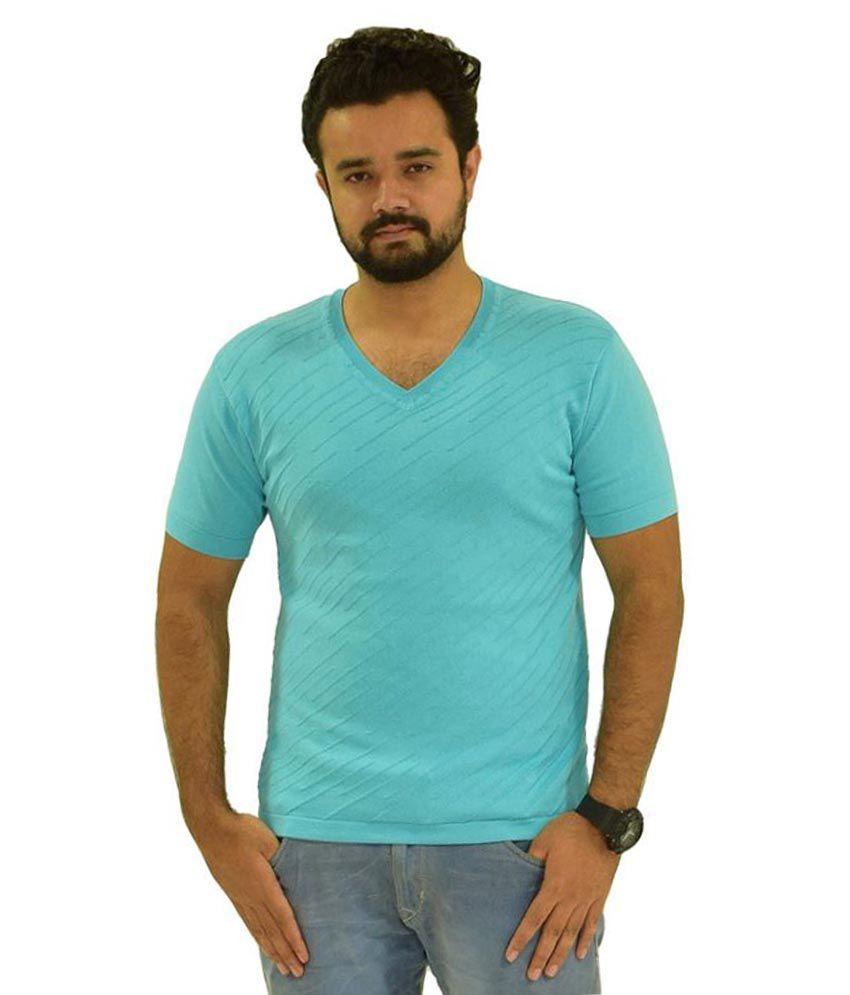 Oldberri Blue V-Neck T-Shirt