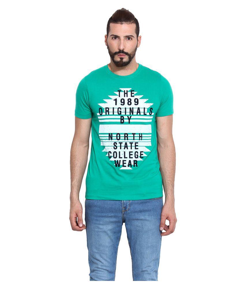 Western Vivid Green Round T-Shirt