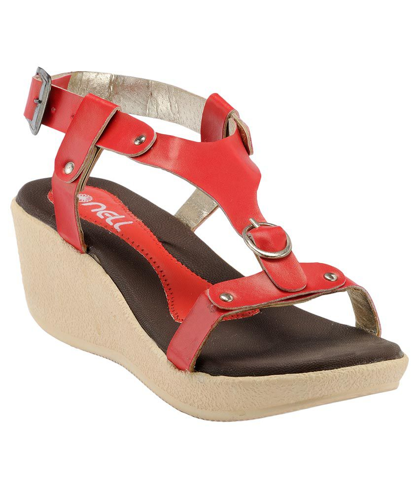 nell Red Wedges Heels