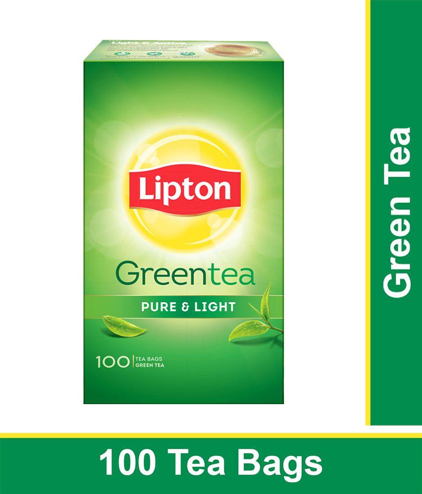 Lipton Pure & Light Green Tea Bags 100 pcs