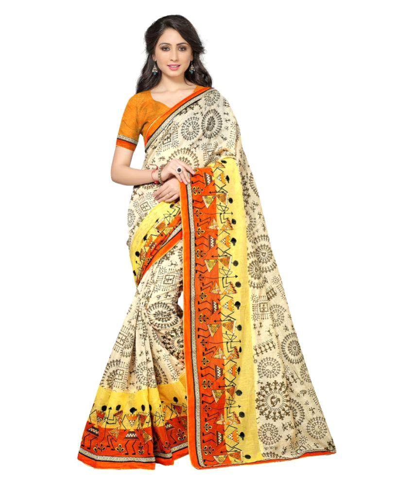 Pramukh Supplers Multicoloured Bhagalpuri Silk Saree