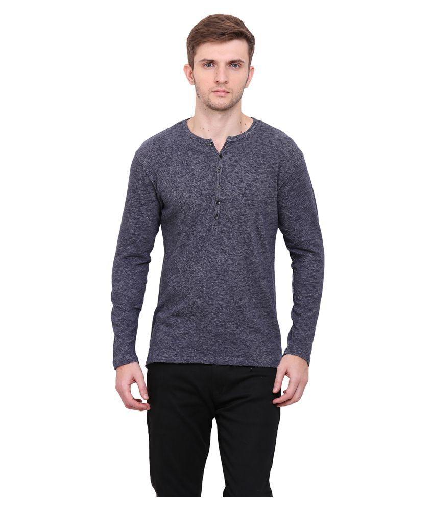 Le Bourgeois Grey Henley T-Shirt