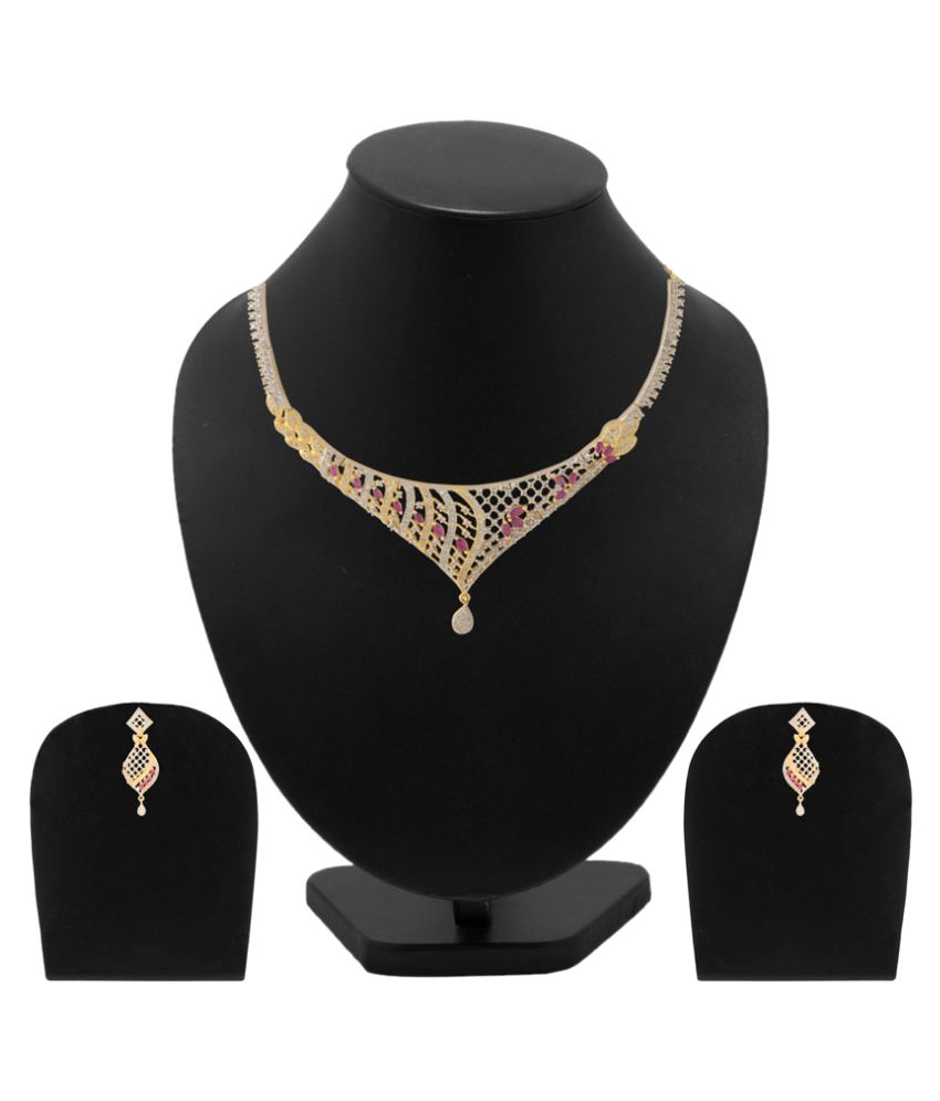 Voylla Beautiful Gold Plated Necklace Set