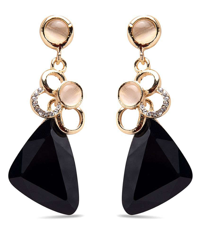 Diana Korr Black Gold-Plated Drop Earrings