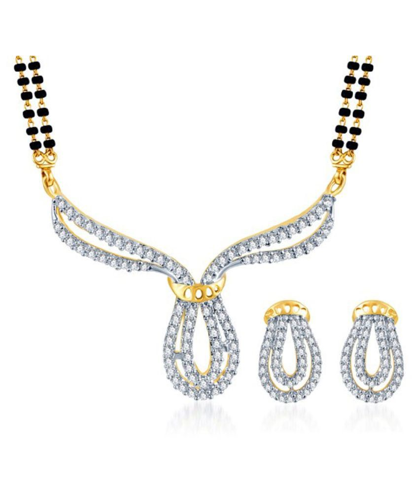 Efulgenz CZ Multicolour Mangalsutra Set for Women