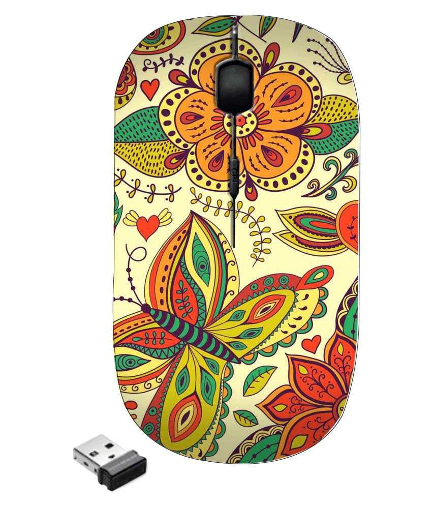 Zapcase Ultra Slim Multicolour(May vary as per availability) Wireless Mouse
