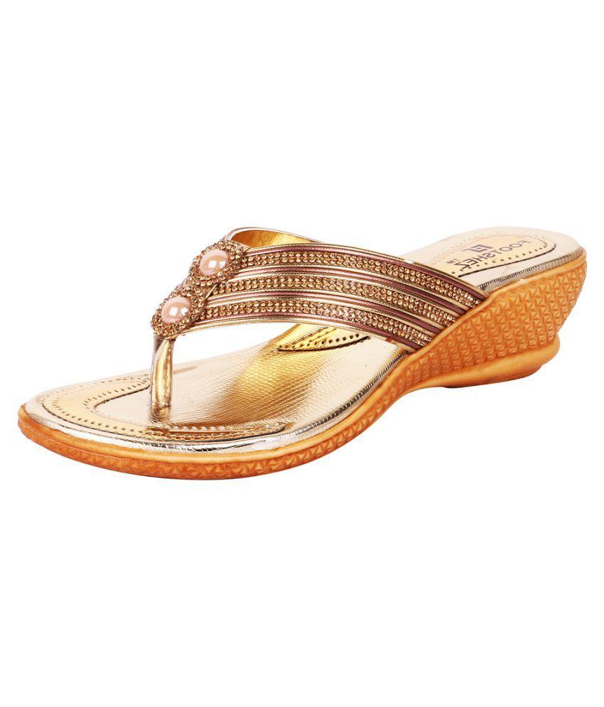 KaryJerry Gold Wedges Heels