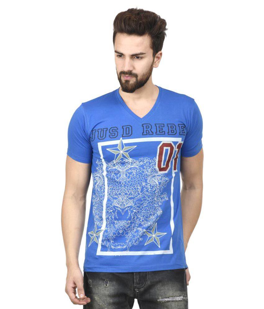 MSG Blue V-Neck T-Shirt