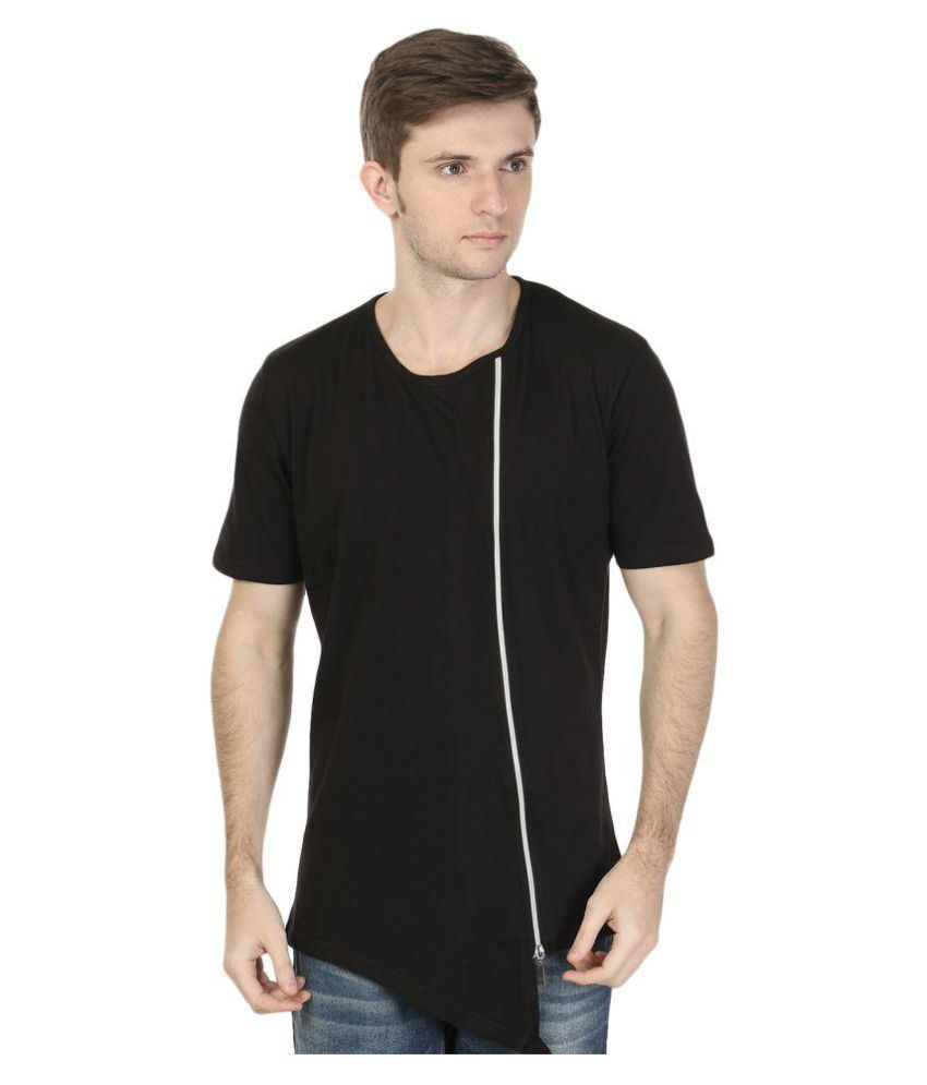 The Black Collection Black Round T-Shirt
