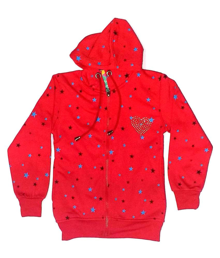 Cuddlezz Red Fleece Sweatshirt