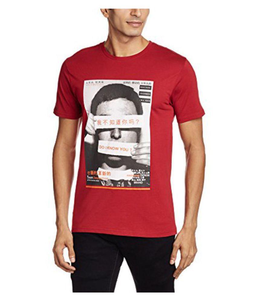 Locomotive Red Round T-Shirt