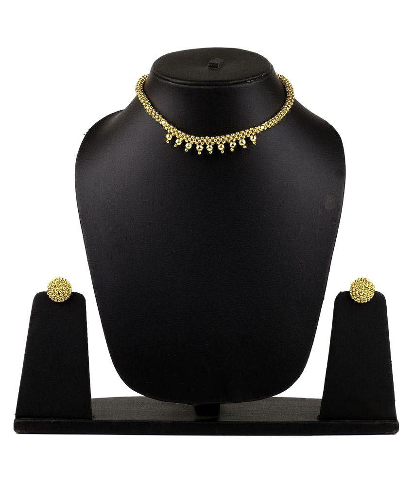 Womens Trendz Golden Alloy Necklace Set