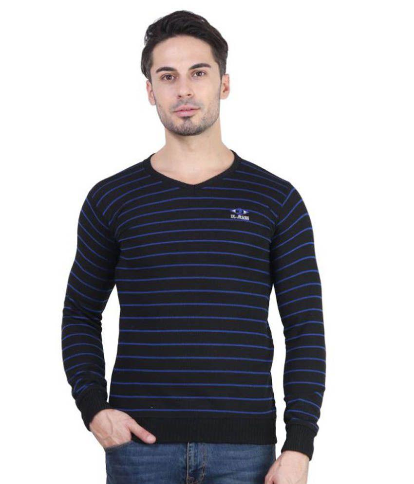 Bravezi Black V-Neck T-Shirt