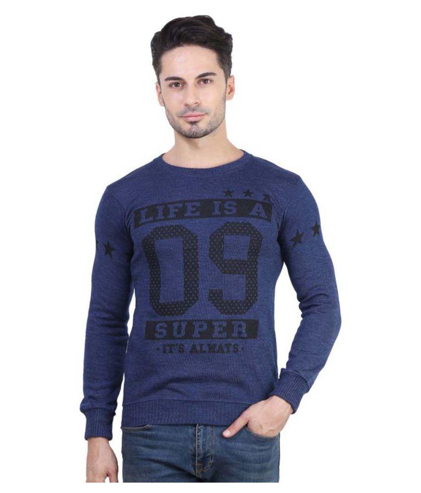 Bravezi Blue Round T-Shirt