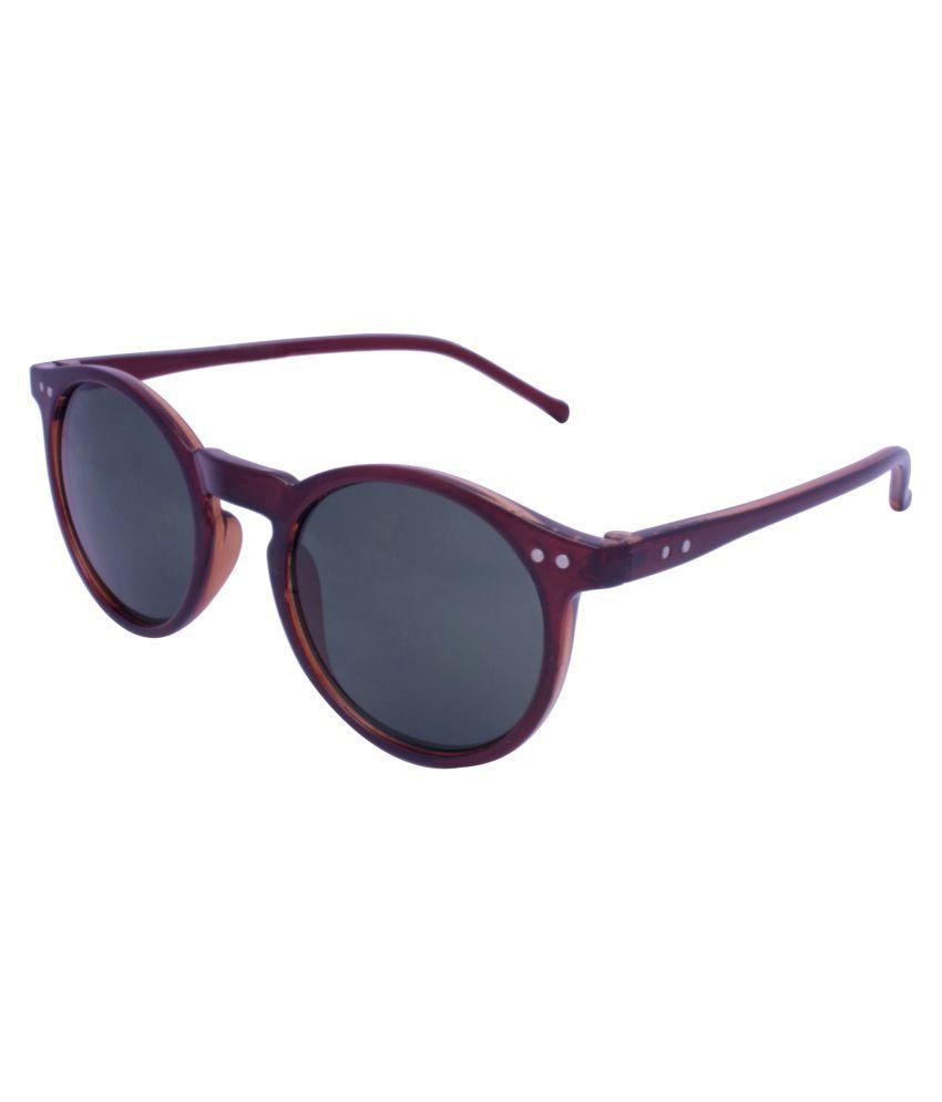 Flash Grey Round Sunglasses ( 7037_MAT _BROWN_BROWN )