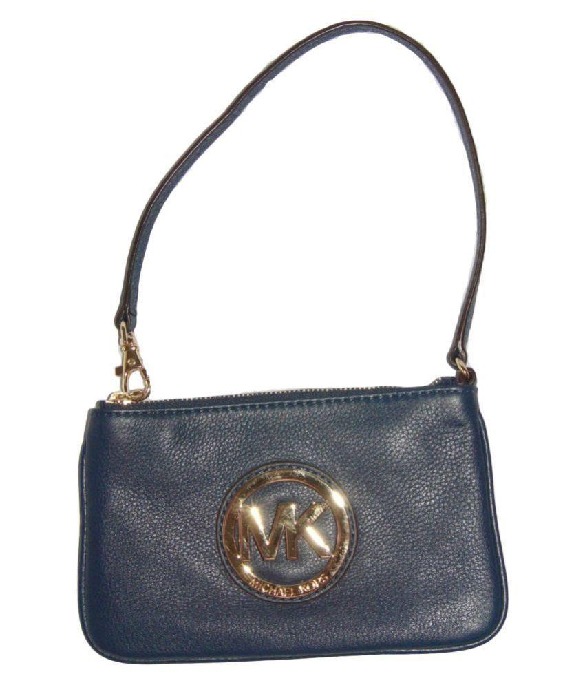 Michael Kors Navy Artificial Leather Handbags Accessories
