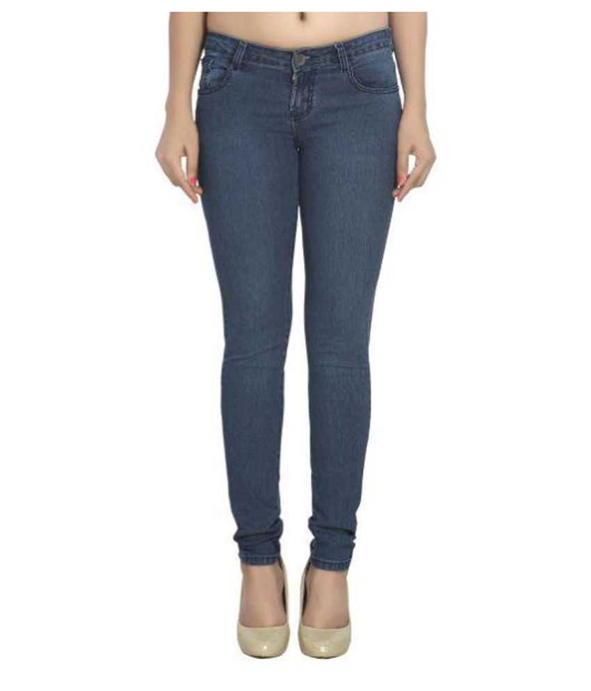 Channel F Denim Lycra Jeans