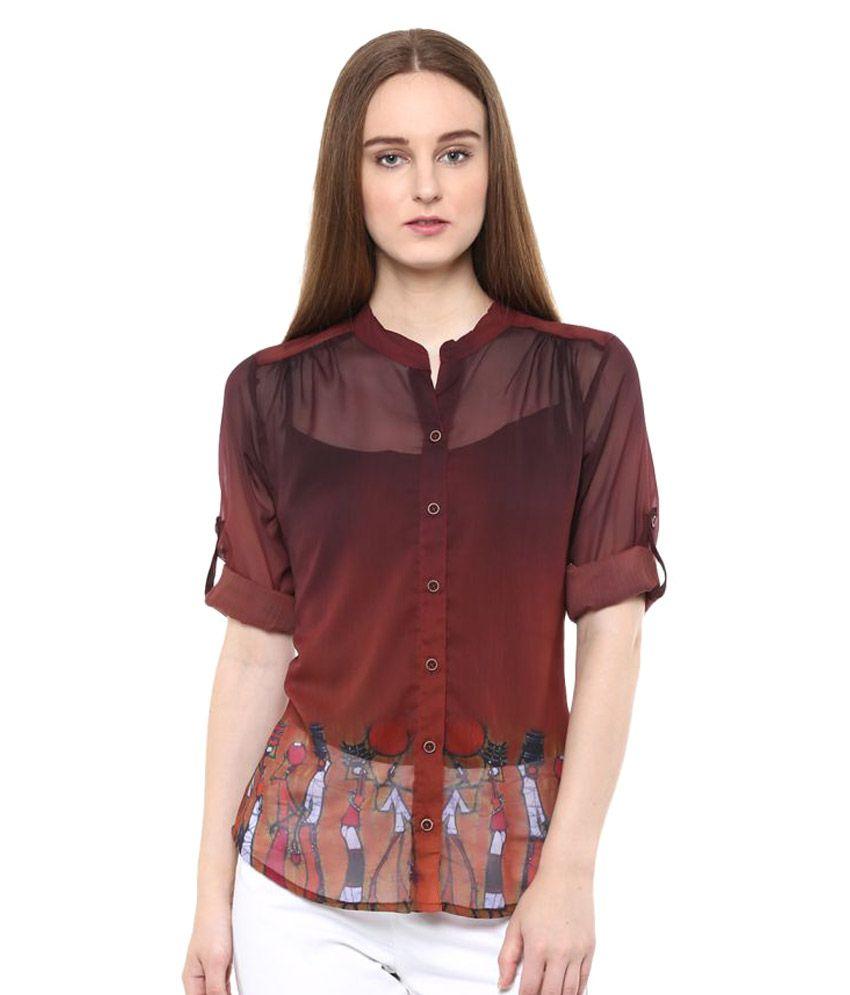 Irizz Poly Chiffon Shirt