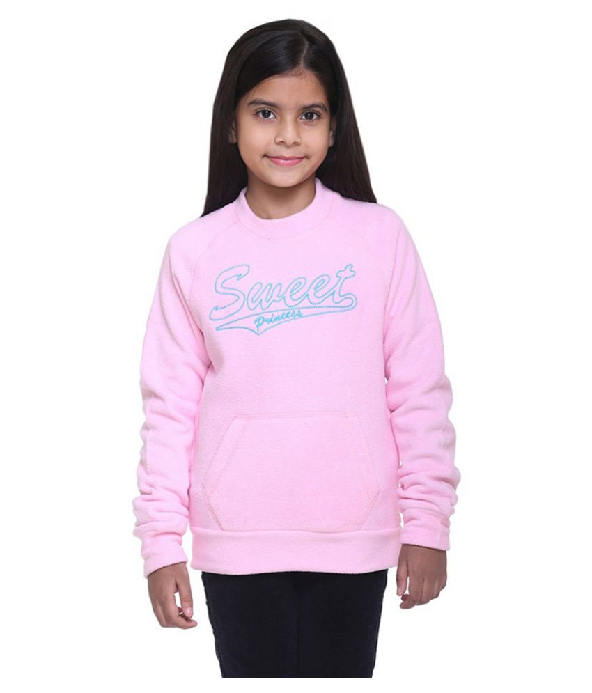 Kids-17 Pink Crew Neck  Sweatshirt