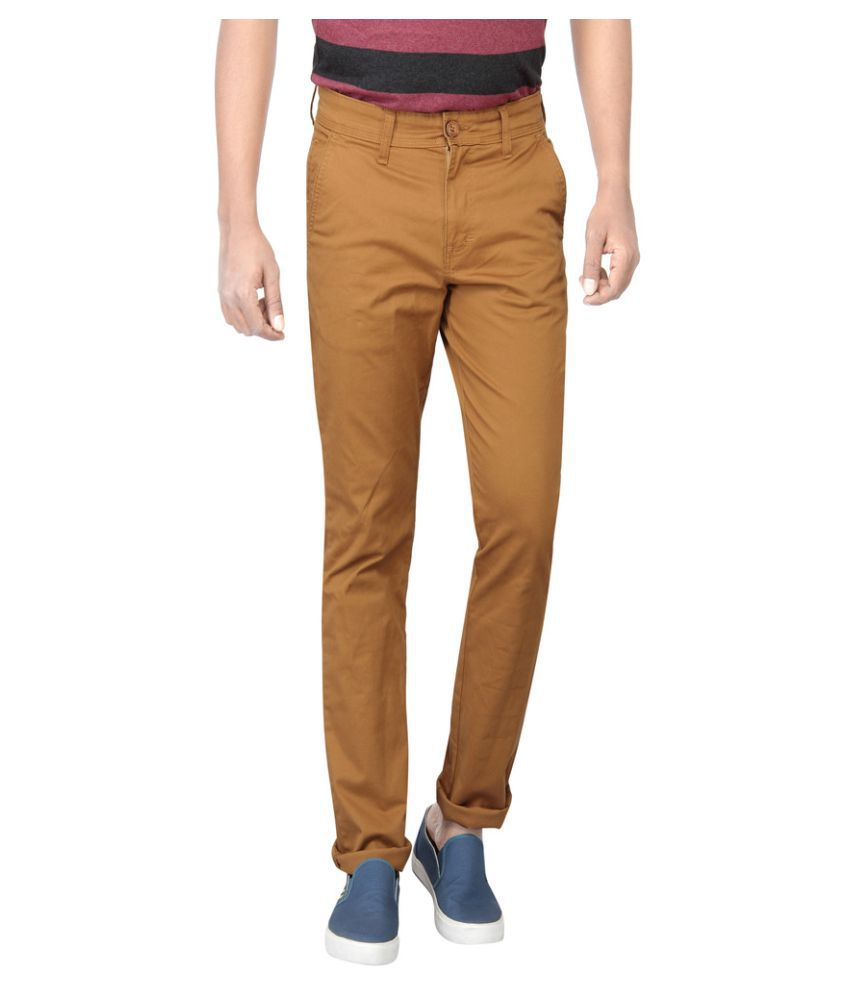 Pepe Jeans Dark Brown Slim Flat Chinos