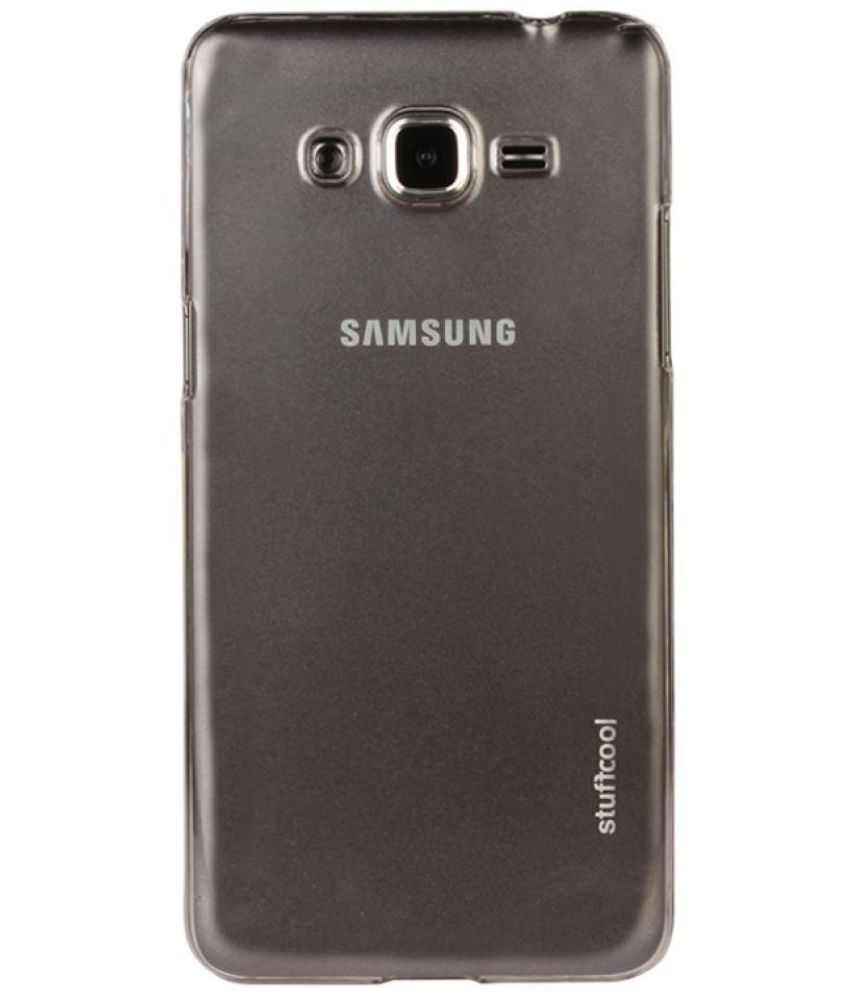 1f1e39916 Samsung Galaxy Grand Prime Case With Stand by STUFFCOOL - Transparent -  Plain Back Covers Online at Low Prices