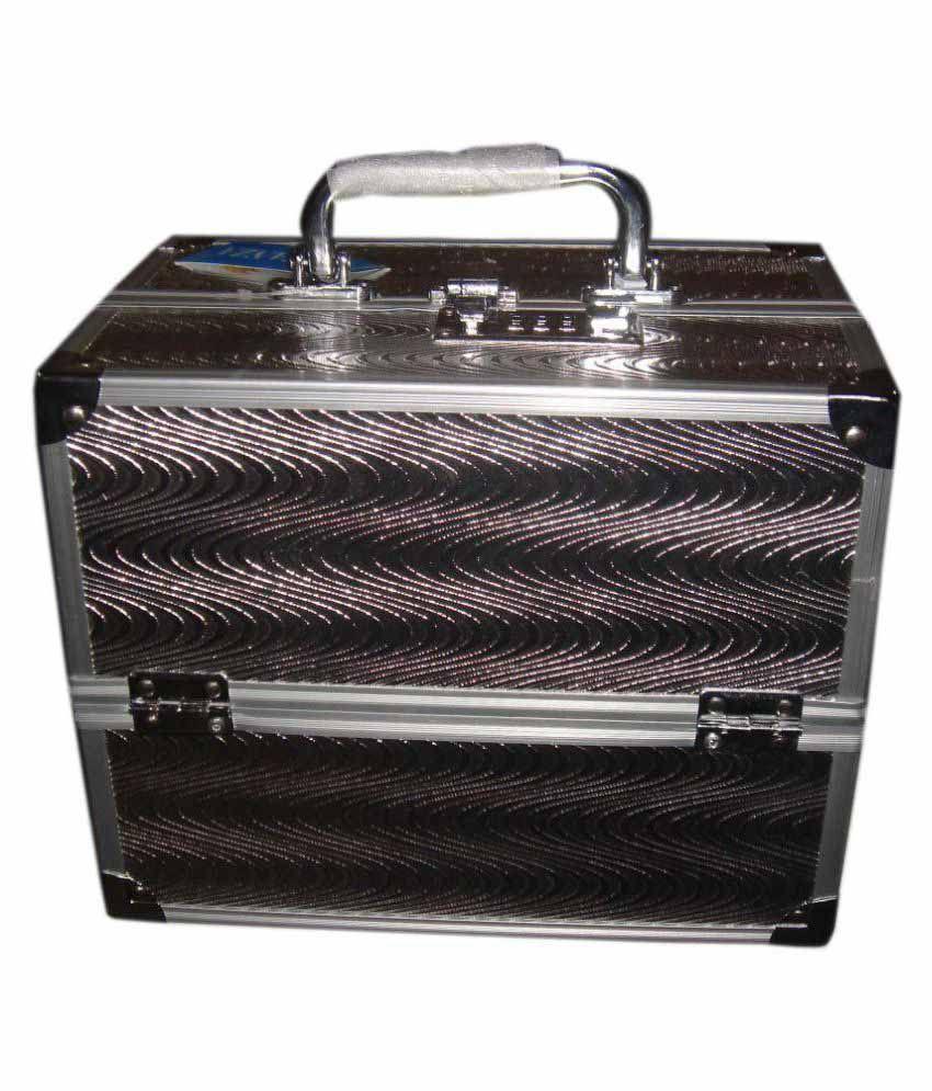 Bonanza Silver Metal Cosmetic Vanity Box