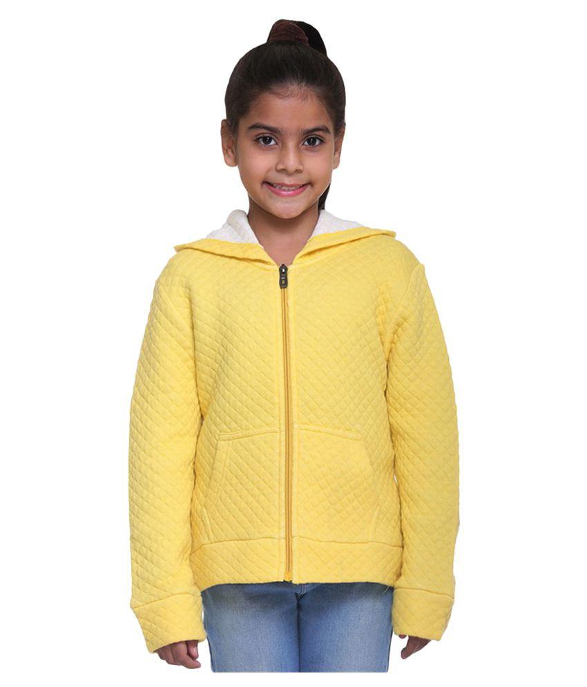 Kids-17 Yellow Front Open Sweatshirt