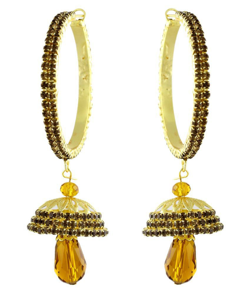 e2c20c4e0 Sewad Golden Copper Jhumki Earrings - Buy Sewad Golden Copper Jhumki Earrings  Online at Best Prices in India on Snapdeal
