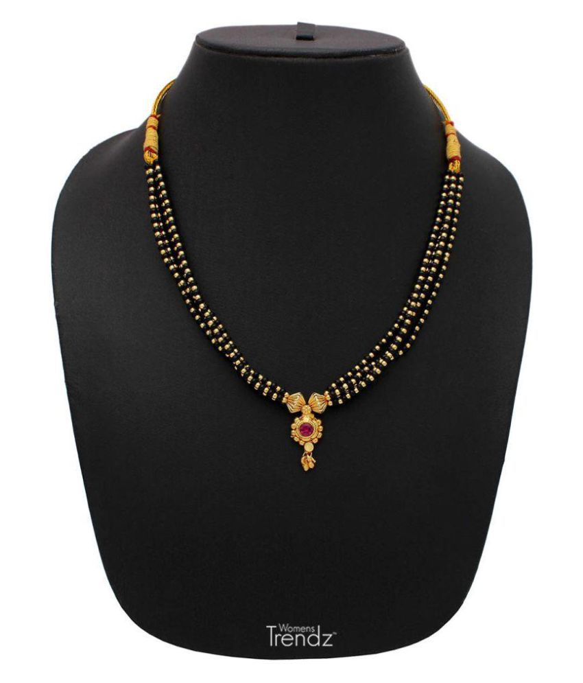 Womens Trendz Jhondhala Poat 24K Gold Plated Alloy Mangalsutra