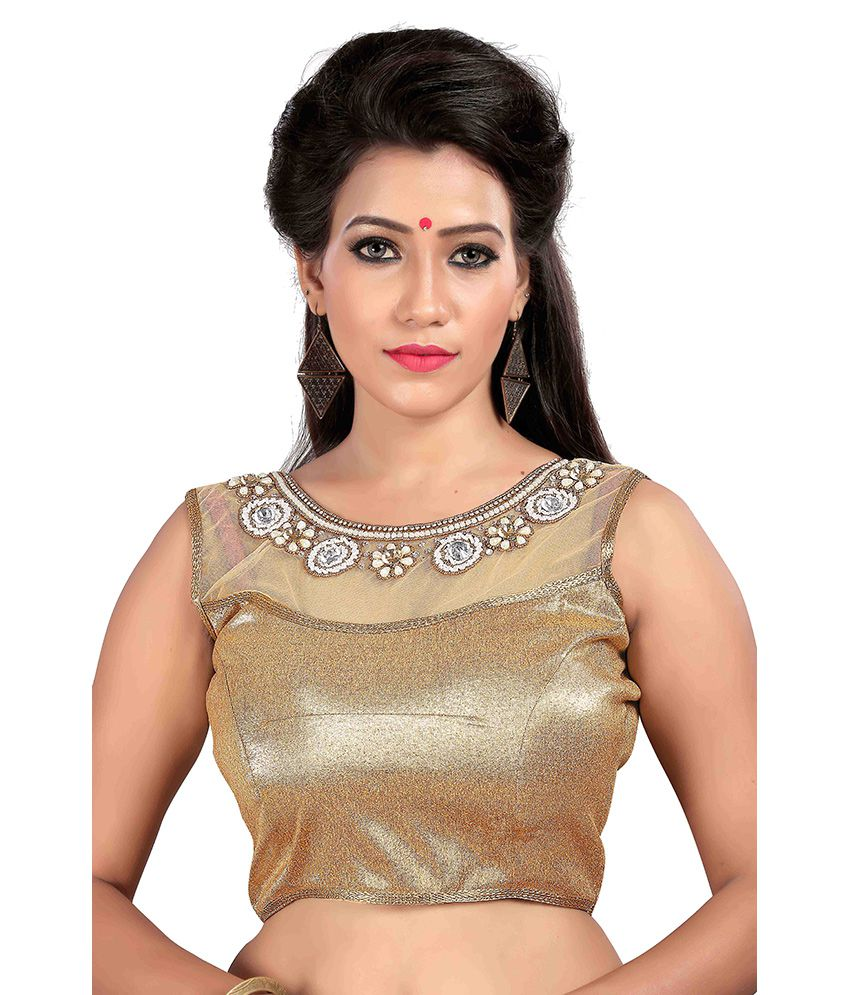 Om Fab Gold Round Shape With Dori Blouse