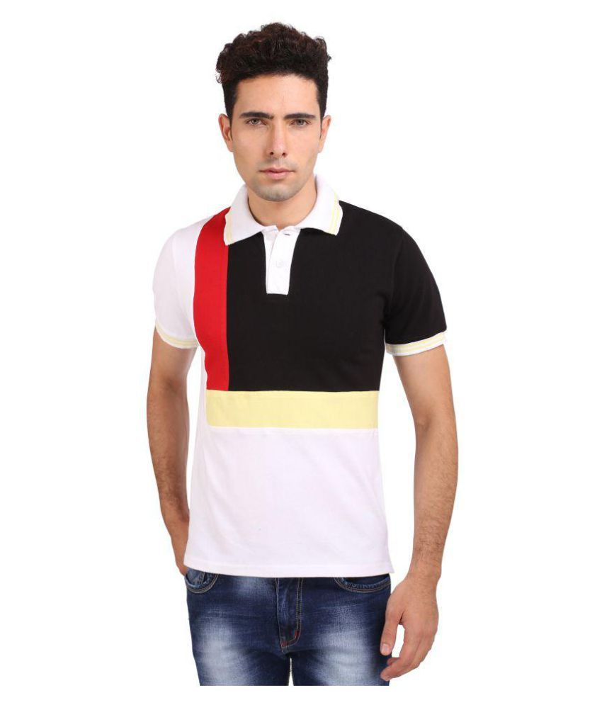 Attabouy White Cotton Polo T-Shirt Single Pack