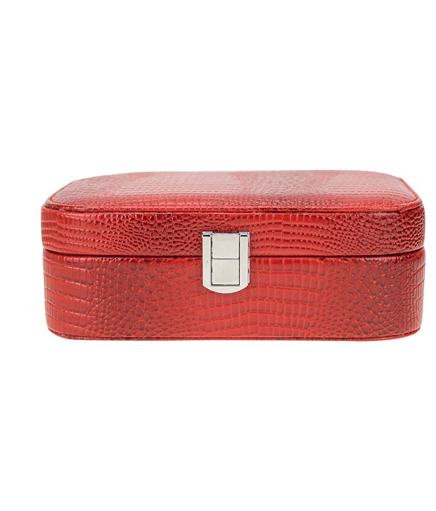 Zeva Red Avenue Designer Jewllery Box