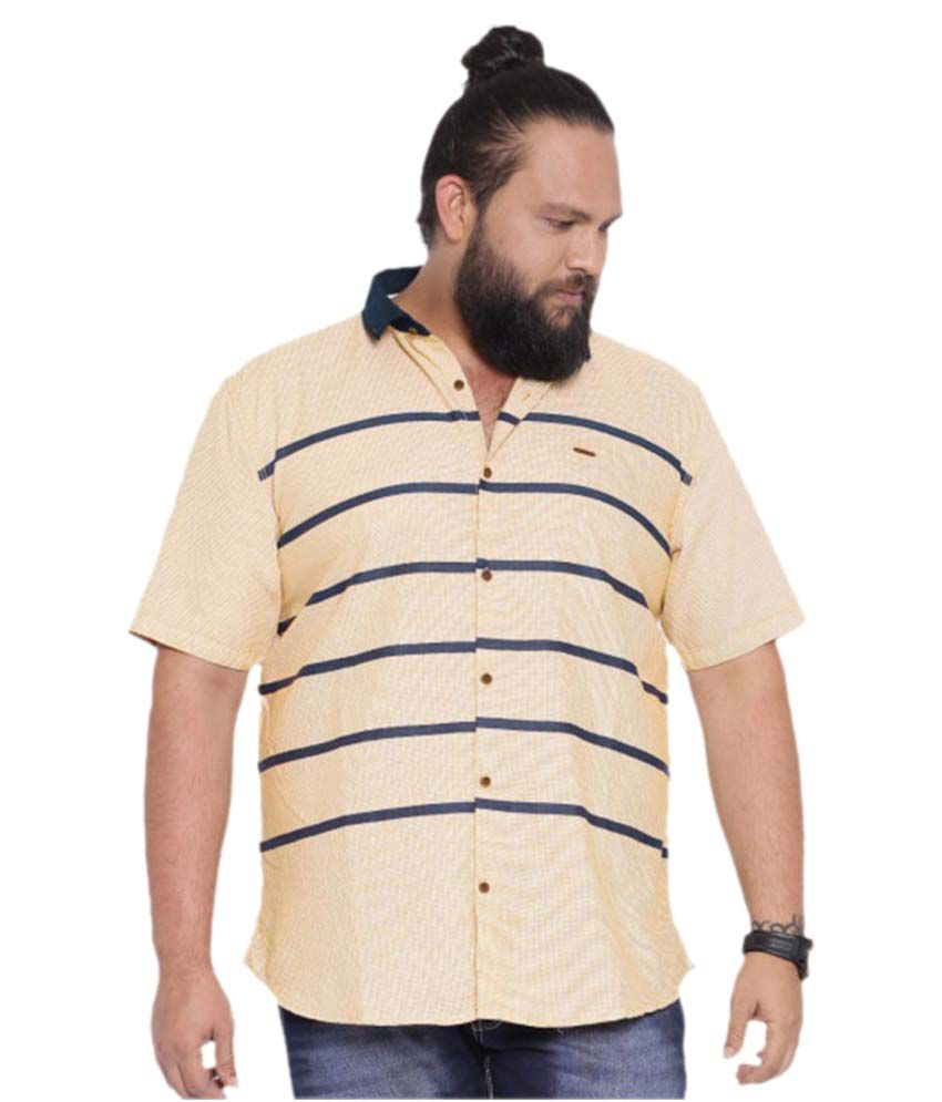 Showoff Beige Casuals Regular Fit Shirt