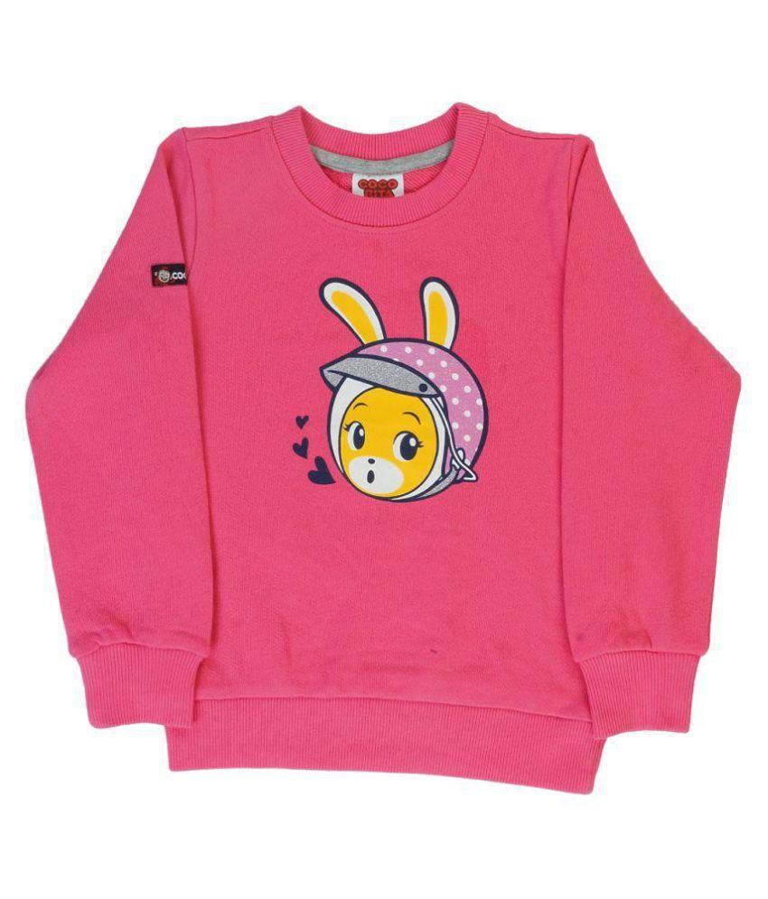 Indirang Pink Crew Neck Sweatshirt