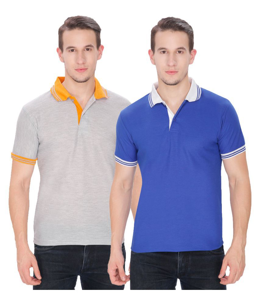 Faded Finch Multi Regular Fit Polo T Shirt