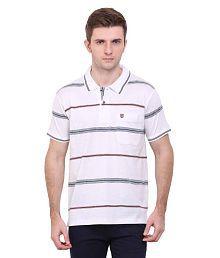 Duke White Regular Fit Polo T Shirt