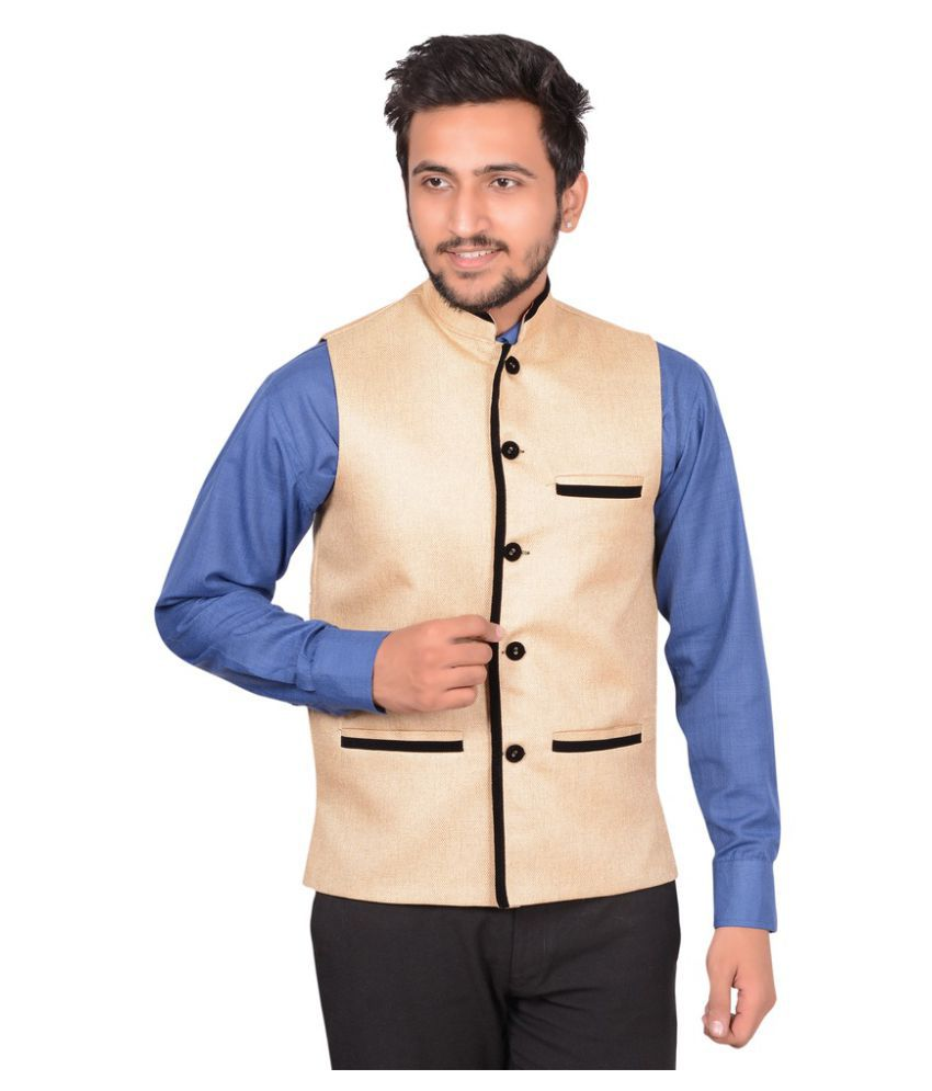 GDS Gold Solid Party Waistcoats