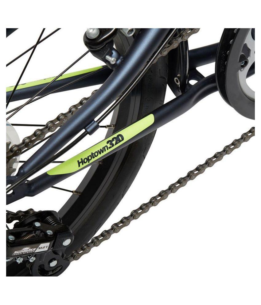 btwin hoptown 320 folding bike bicycle 50 8 cm 20 inch by decathlon