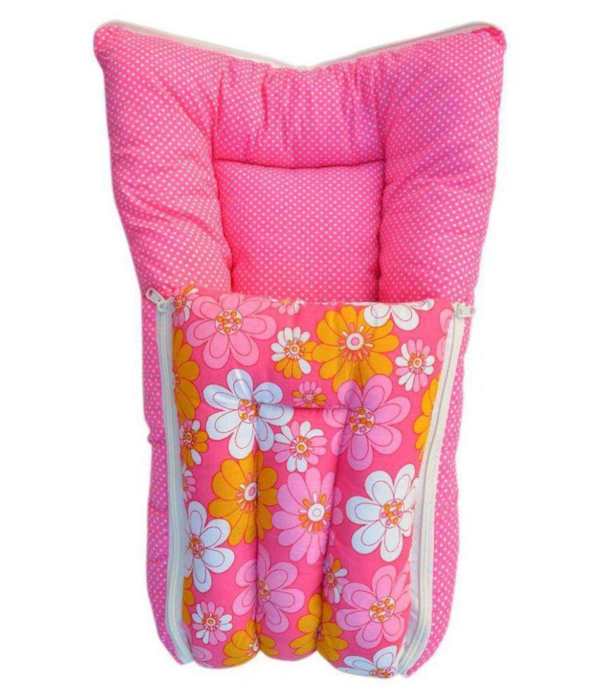BabyGo Pink Cotton Baby Sleeping Bag