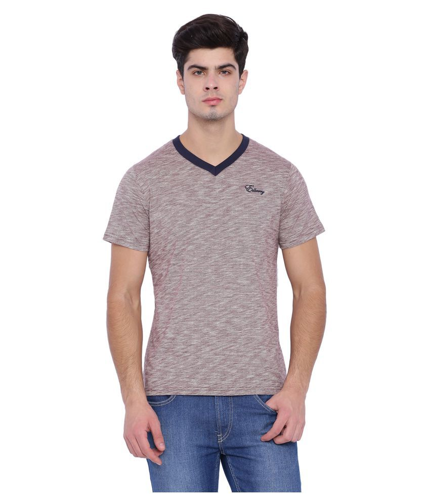Edberry Grey V-Neck T-Shirt