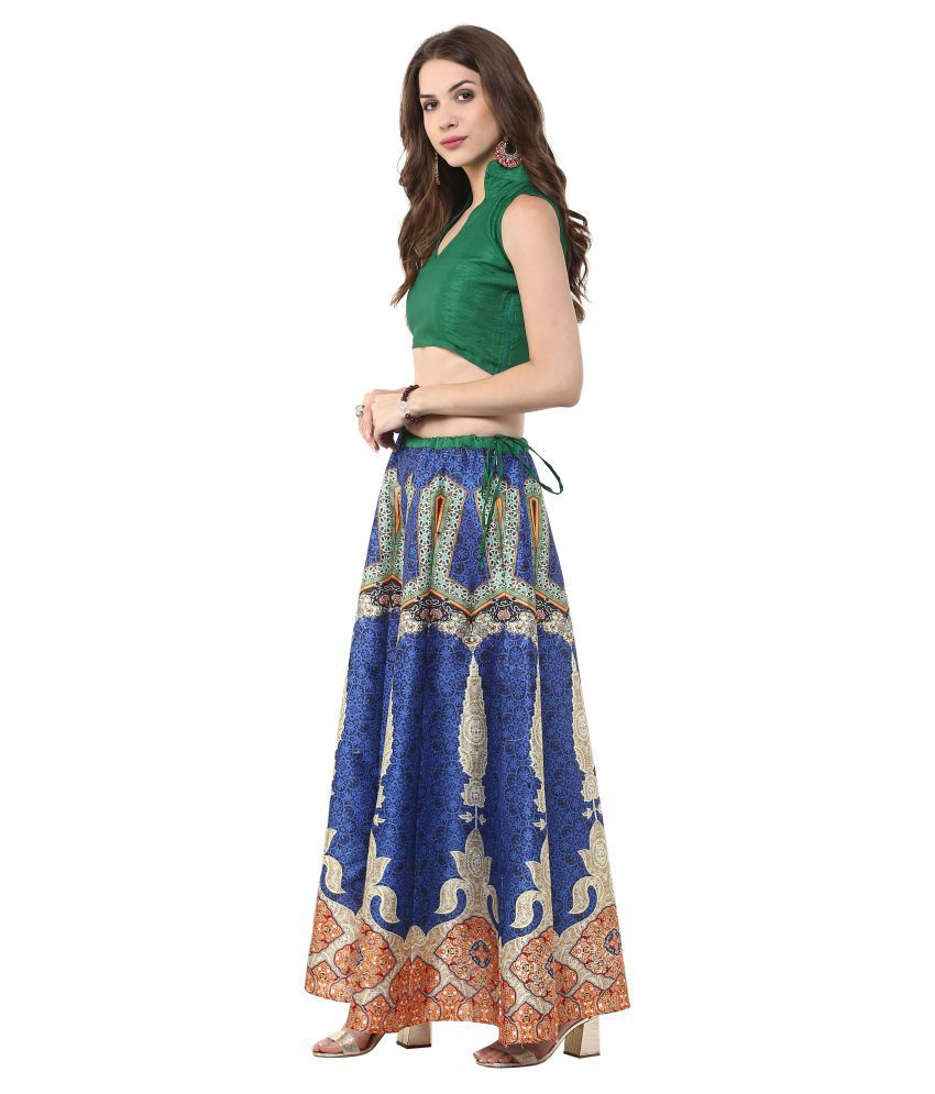 8bac9a0a7 Buy Janasya Silk Straight Skirt Online at Best Prices in India ...
