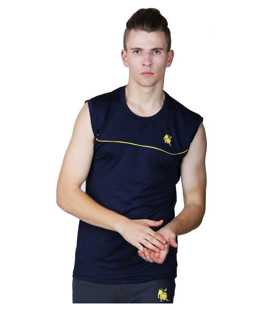 L'appel Du Vide Blue Polyester T Shirt