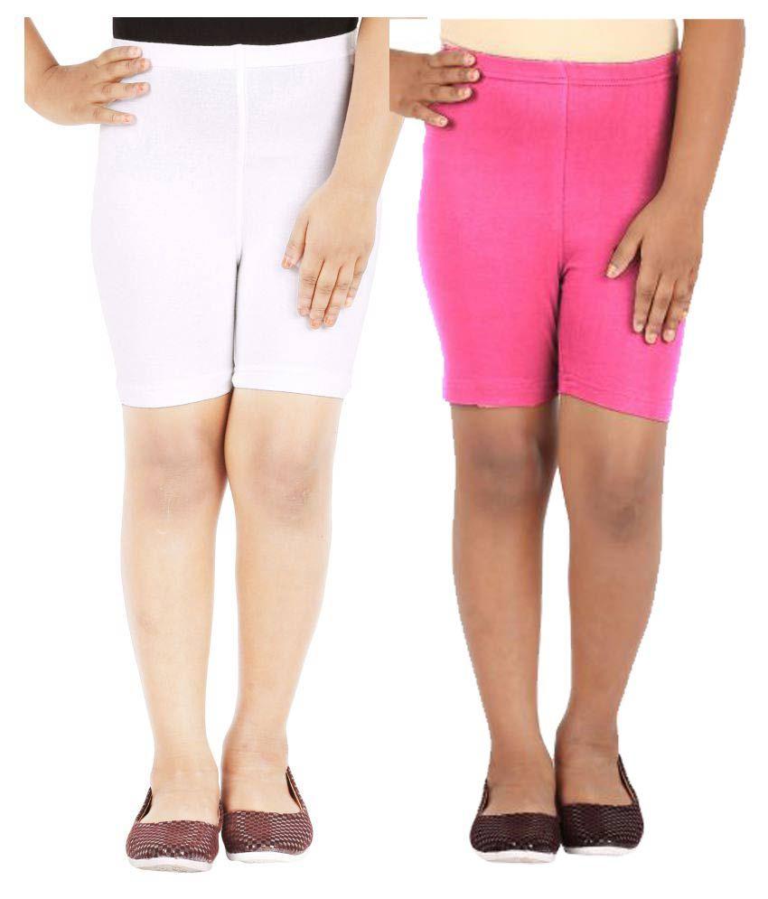 Lula Girls Spandex Shorts -Pack of 2 (CB01020216233016)
